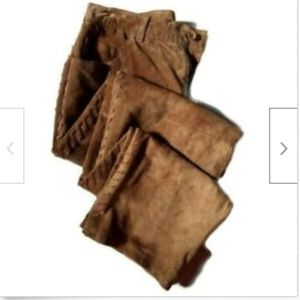 Jones New York brown suede flat front pants size 4